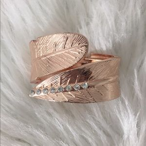 Jewelry - Rose Gold Toned Bracelet with Diamond Like Accents